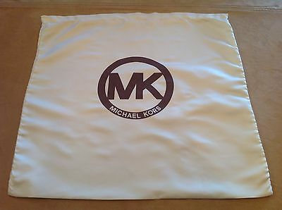 MICHAEL KORS X Large Storage Pouch, Dust Bag, Purse Holder, Drawstring, Beige