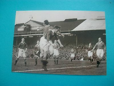 "CHELSEA v MANCHESTER UNITED   1950s  Action 6""x4""  REPRINT  POST FREE"
