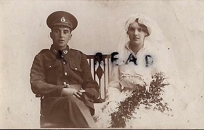 WW1 Soldier Pte Royal Marine Light Infantry RMLI & Bride Wedding Day