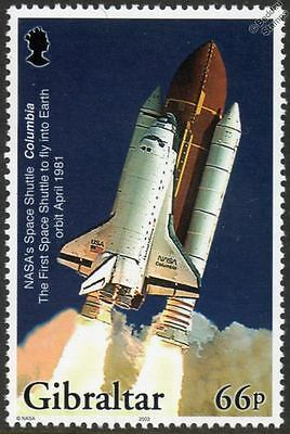 NASA Space Shuttle COLUMBIA Aircraft Mint Stamp (2003 Gibraltar)
