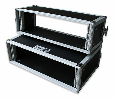 Doppel-CD-Player-Case Tour Pro, 3HE, sw DJ-Rack Flight Rack Case NEU