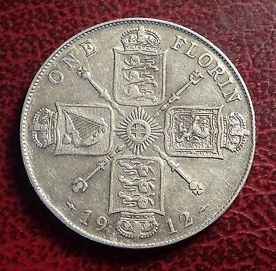 George V Florin Two Shillings 1912