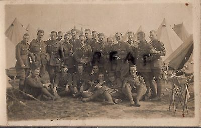 WW1 Officer Manchester Regiment Lancashire Fusiliers TF Territorials tented camp