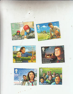 2007 Centenary Of Scouting Full Set Umm/mnh Below Face Value