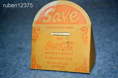 Vtg 1950's Coca Cola Advertising Promo Give-a-Way Savings Coin Bank, Promotional