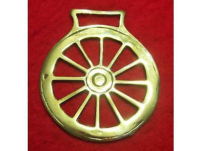 Vintage Cast Horse Brass of an Old Wagon Wheel #56