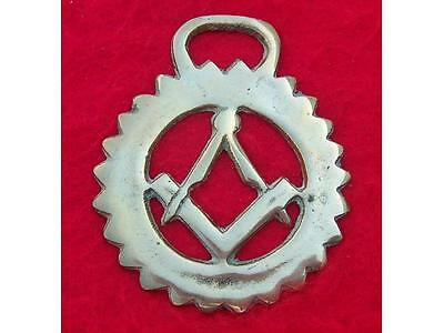 Vintage Cast Horse Brass the Masonic Compasses and Square #70