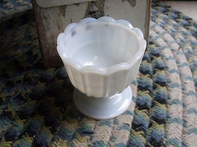 Beautiful Antique Milk Glass Bowl Candy Dish Planter Opaque White