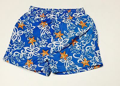 Baby Boys Starfish Theme Swimming Shorts.Aged 0-12 Months.From Mothercare.!!