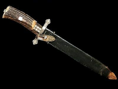 Very Nice German Hunting Dagger Hirschfanger Oberforstmeister