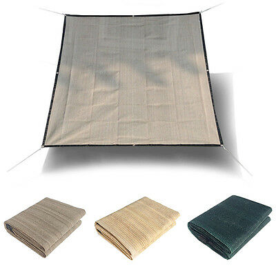 Sun Shade Sail Soild Color Home Plant Canopy Outdoors Netting Awning Mesh Cover