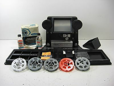 Argus 8mm Movie Editing Outfit with Edit Tray Model No. 767 and Accessories