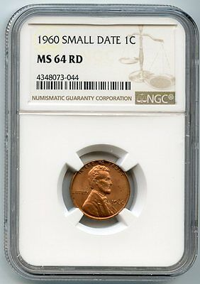 1960 SMALL DATE Lincoln Wheat Cent MS 64RD NGC