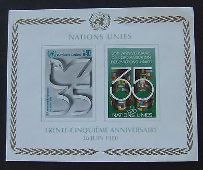 1980 United Nations Miniature Stamp Sheet