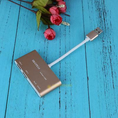 Micro USB 3.0 OTG HUB SD/TF Card Reader Combo Adapter for Tablet PC Cell Phone