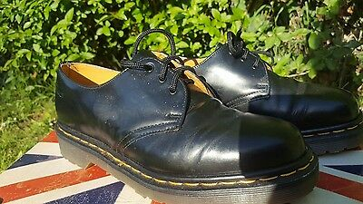 BNWB Dr Martens Black Leather 1461 Made in England. Size 5