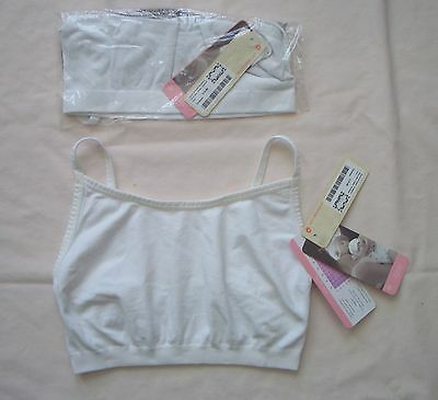 Lot 2 NEW Medium Ingrid Nursing Maternity White Bra NWT $36