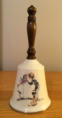 """Vintage 1979 Gorham 9"""" Dinner Bell, Norman Rockwell Beguiling Buttercup - #DB 15"""