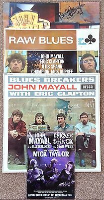 3 X Empty LP Sleeves + 'Hand Signed' Flyer Featuring John Mayall
