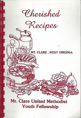 Mt Claire Wv Vintage Methodist Church Cherished Recipes Rare Cook Book Local Ads