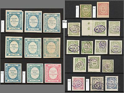 Indian States NANDGAON 1891-95 collection M + forgeries, SG 1//O5 cat £223+