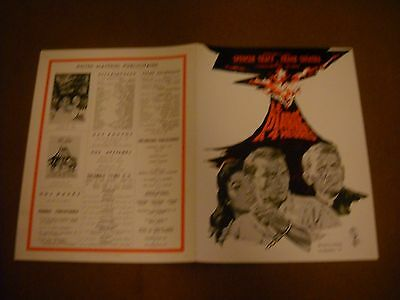 - THE DEVIL AT 4 O'CLOCK- Sinatra - Spencer Tracy- French press sheet- 1961 -
