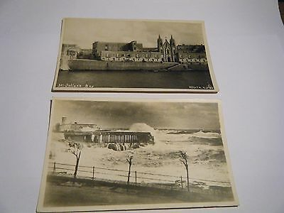 2 Vintage Real Photo Postcards Malta Unposted Unknown Image And St. Julians Bay