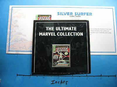 Silver Surfer Comic Cover Fantastic Four Enamel Usps Carded 999 Silver Bar Coa#g