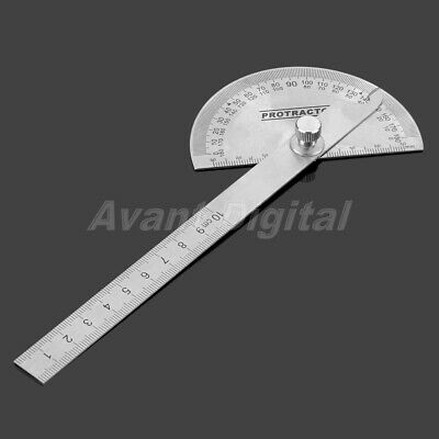Protractor 0-180 Degree Stainless Angle Finder Arm Ruler Measuring Marking Tool