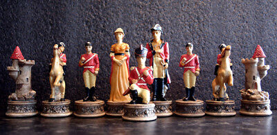 *NEW IN BOX* Veronese Waterloo Cast Resin Chess Pieces - Board NOT Included