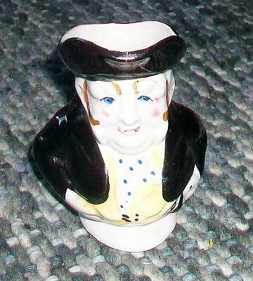 POTTERY  CHARACTER  JUG 4.5 TALL  As Found