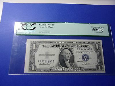 Fr. 1615 1935 $1 Silver Certificate PCGS 55ppq Choice About New
