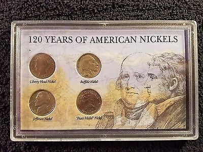 120 Years of American Nickels, Liberty Head, Buffalo, Jefferson & Peace Medal