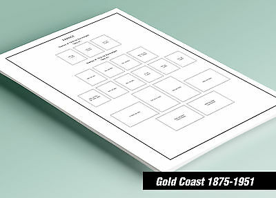 PRINTED GOLD COAST 1875-1951 STAMP ALBUM  PAGES (11 pages)
