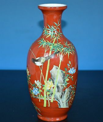 Exquisite Chinese Famille Rose Porcelain Vase Marked Yongzheng Rare E9041
