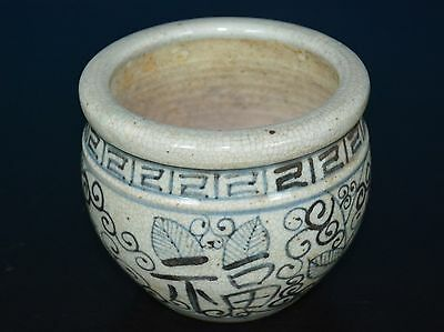Fine Chinese Blue And White Porcelain Pot Rare B9192