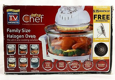 New Original INFRA CHEF Family Sized Halogen Oven Healthy Cooking NEW Open Box