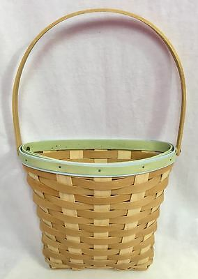 Longaberger 2011 Earth and Sky Weave Door Flower Basket, Natural & Warm Brown