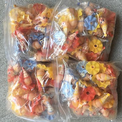HUGE Lot 100+ Vintage Wilton Clown Cupcake Cake Toppers