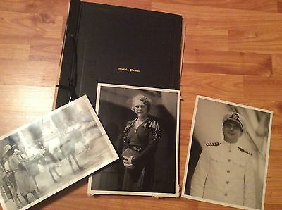1933 USS HENDERSON cruise scrapbook contents 74 photos 47 paper items