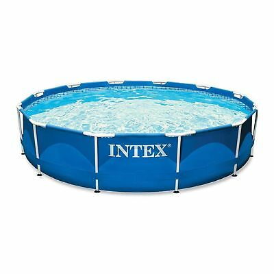 INTEX 28210 Swimming Pool Metal-Frame 366 x 76 cm blau