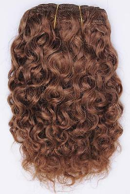 "Light auburn # 10 curly mohair weft coarse  7-8"" x200""  26549  FP"