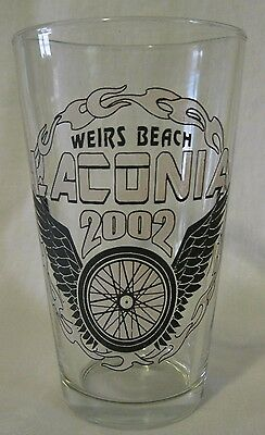 Weirs Beach Laconia New Hampshire Bike Week 2002 Beer Glass