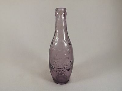 Pepsi-Cola-Indian-Rock-Ginger-Ale-Richmond-Va-Rare-Bottle Bowling Pin Amethyst