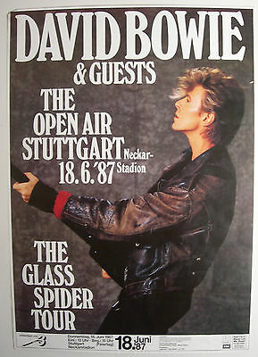 David Bowie Concert Tour Poster 1987 Never Let Me Down