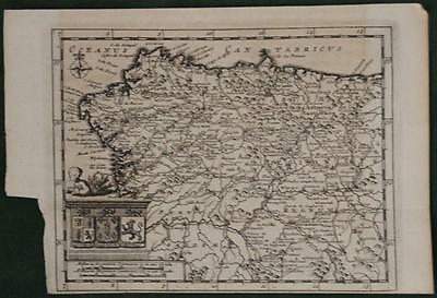 Asturias Galicia Castilla Y Leon Spain North Portugal 1707 Van Deraa Antique Map