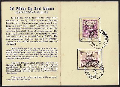 Pakistan Scout Founder Franked Card Scarce