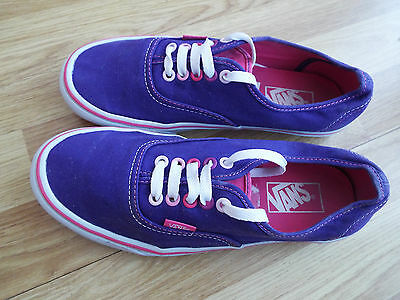 Vans 'off The Wall'  Ladies Canvas Trainers Uk Size 6