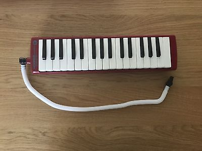 Melodica Pianica Blow Organ Red Hohner Student 32 Air Harmonica