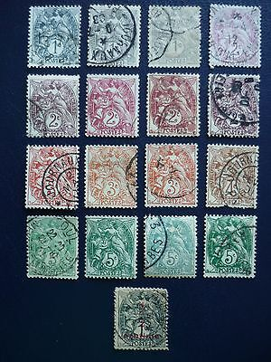 FRANCE 1900 Collection of Blanc types, values, shades, types 21 stamps vf used